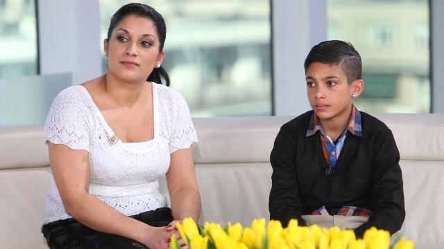 Santiago Gil z mamą